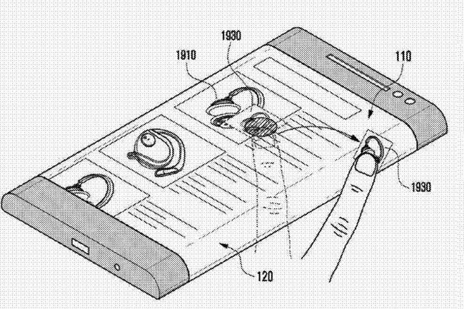 patente samsung pantalla biseles